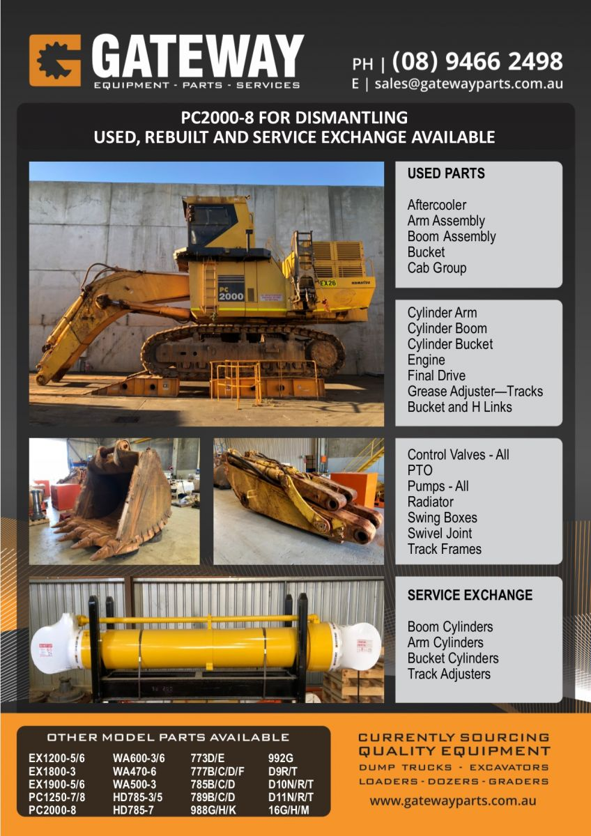 Gateway Parts | Mining Machinery & Parts Perth